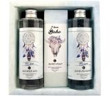 Bohemia Gifts & Cosmetics Boho style & Gentleman Extrakt mořské řasy Ulva lactuca Sprchový gel 250 ml + Toaletní mýdlo 145g + Šampon na vlasy 250 ml kosmetická sada