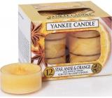 Yankee Candle Star Anise & Orange - Anýz a pomeranč vonná čajová svíčka 12 x 9,8 g