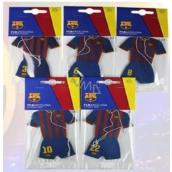 FC Barcelona aromatická vonná karta do auta v tvare oblečení hráčov klubu expirácie 10/2017