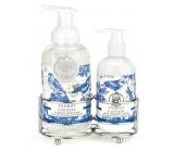 Michel Design Works Svieža bavlna tekuté mydlo 530 ml + mlieko na ruky a telo 236 ml kozmetická sada starostlivosti o ruky