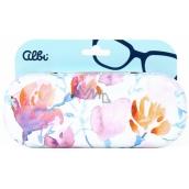 Albi Original Puzdro na okuliare plechové Kvety 15,7 x 6,2 x 3,2 cm