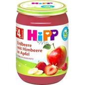 Hipp Ovocie Bio Jablká s jahodami a malinami ovocný príkrm, znížený obsah laktózy a bez pridaného cukru pre deti 190 g