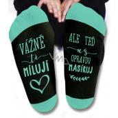 Nekupto Rodinné darčeky s humorom Ponožky Vážne ťa milujem, veľkosť 39-42