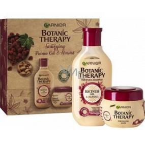 Garnier Botanic Therapy Ricinus Oil & Almond šampón na vlasy 250 ml + vlasová maska pre slabé vlasy 300 ml, kozmetická sada