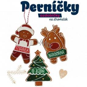 Albi Perníček, voňavá vianočné ozdoba Šťastné a veselé! Panáčik 8 cm