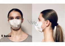 Crdlight Respirátor FFP2 tvárová maska pre deti Junior biela 10 kusov