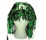 Parochňa lametová alu krátka zelená