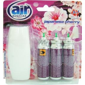 Air Menline Japanese Cherry Happy Osvěžovač vzduchu komplet + náplně 3 x 15 ml sprej