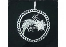 Háčkovaná komata v kruhu 9 cm