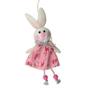 Zajac ružový v kvetované sukni 15 cm
