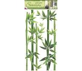 Samolepky na stenu bambus zelený, 60x32 cm