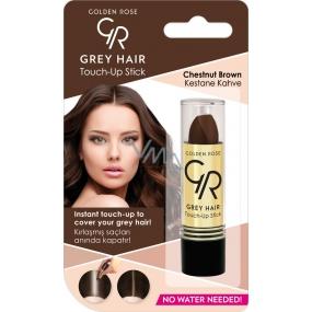 Golden Rose Gray Hair Touch-Up Stick farbiaci korektor na odrastené a šedivé vlasy 07 Chestnut Brown 5,2 g