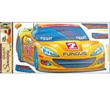 Samolepky na stenu žlté auto 60 x 32 cm