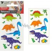 Tetovacie obtlačky farebné detské Malí dinosaury 10,5 x 6 cm