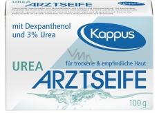 Kappus Urea lekárske toaletné mydlo bez parfumácie a farbív pre alergickú pokožku číre 100 g
