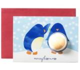 Bomb Cosmetics Veselé tučniaky Vianoce Vianočné želanie s balistiky 50 g
