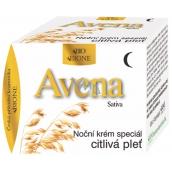 Bion Cosmetics Avena Sativa nočný pleťový krém špeciál pre citlivú a problematickú pleť 51 ml