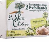 Le Petit Olivier Olivový olej peelingové toaletní mýdlo 2 x 100 g