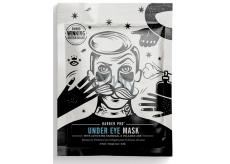 Barber Pre Pleťová maska pod oči s aktívnym uhlím a sopečným popolom pre mužov 3 x 3,5 ml