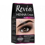 REVIO Henna farba na obočie, krém 15 ml + aktivátor 15 ml, 01 Black