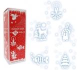 Vianočné sneh s 10 šablónami sprej 150 ml