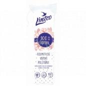 Linteo 100% Natural kozmetické vatové odličovacie tampóny 100 kusov