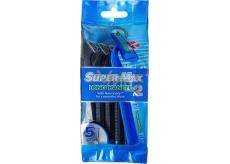 Super-Max Long Handle jednorázový 2břitý holící strojek pro muže 5 kusů