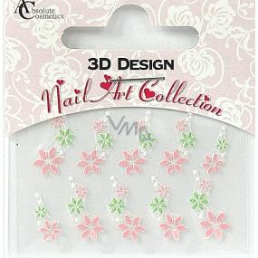 Absolute Cosmetics Nail Art 3D nálepky na nechty 24919 1 aršík