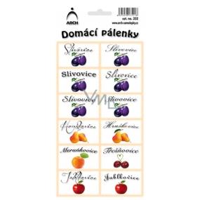 Arch Samolepky Domácí pálenky 352 12 etiket