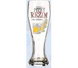 Nekupto Smích pivní sklenice humorné WH 007 Dodržuji pitný režim i za ostatní 0,6 l