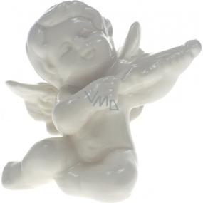 Anjel porcelánový s husľami 8 cm