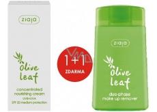 Ziaja Olivové listy SPF20 vyživující koncentrovaný krém 50 ml + Ziaja Olivové listy dvoufázový odličovač make-upu 120 ml, duopack