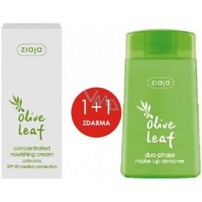 Ziaja Olivové listy SPF 20 vyživujúci koncentrovaný krém 50 ml + Olivové listy dvojfázový odličovač make-upu 120 ml, duopack