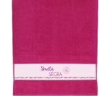 Albi Ručník Skvělá ségra růžová 90 cm × 50 cm