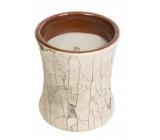 WoodWick Fireside - Oheň v krbu vonná svíčka s dřevěným knotem a víčkem sklo malá 85 g