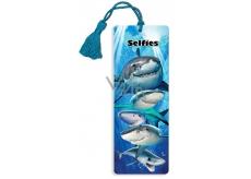 Prime3D záložka - Žraloci 5,7 x 15,3 cm
