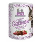 Brit Care Cat Snack Chrumkavý lososový maškrtu so šípkami a brusnicami doplnkové krmivo pre dospelé mačky 100 g