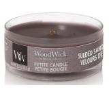 Woodwick Suede & Sandalwood - Semišové santalové drevo vonná sviečka s dreveným knôtom petite 31 g