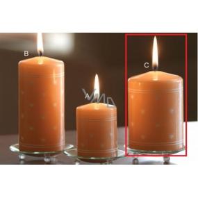 Lima Srdiečko potlač sviečka lososová valec 70 x 100 mm 1 kus
