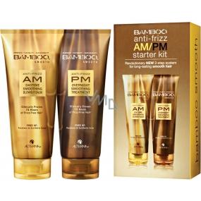 Alterna Bamboo Smooth Anti-Frizz AM/PM Starter Kit set pro uhlazení nepoddajných vlasů 2 x 150 ml, dárková sada