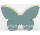 Nekupto Home Decor Dekorace motýlek zelený 12 x 8 cm