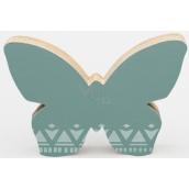 Nekupto Home Decor Dekorácie motýlik zelený 12 x 8 cm