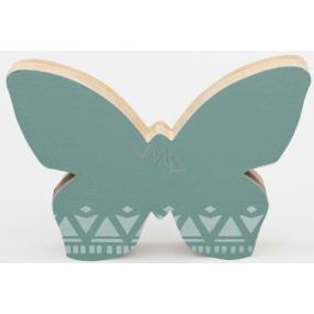Nekupto Home Decor Drevená dekorácia motýlik zelený 12 x 8 cm