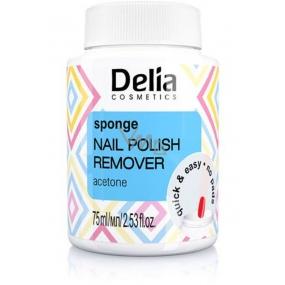 Delia Cosmetics Acetónový odlakovač s hubkou 75 ml