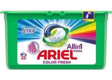 Ariel 3v1 Color Fresh Touch of Lenor gélové kapsule na pranie bielizne 35 kusov 945 g