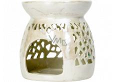 Heart & Home Aromalampa malá perleťová 9,5 cm