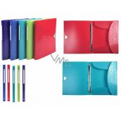 Exacopmta OFFIX Krúžkový zakladač, chrbát 2 cm, A4 PP, 1 kus, mix 5 farieb