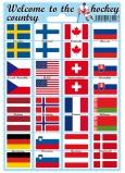 Arch Welcome to the hockey country samolepky a tetovačky vlajky štátov 12 x 17 cm 1 kus