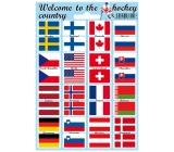 Arch Welcome to the hockey country samolepky a tetovačky vlajky účastníků MS 2015 12 x 17 cm 1 kus