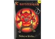 Albi Hracie prianie do obálky K narodeninám Diabolské narodeniny V pekle sudy váľaj Kabát 14,8 x 21 cm